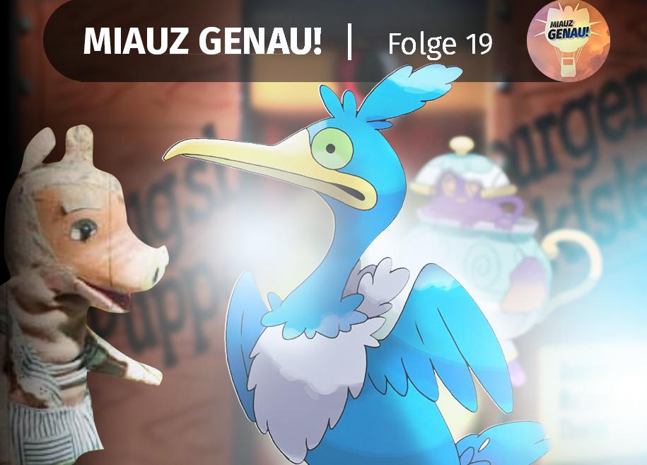 pokemon podcast, miauz genau!, deutsch, Urgl, Augsburger Puppenkiste, Mortipod, Schwert und Schild, neue Pokémon