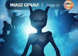 Pokémon Origins deutsches Review, Besprechung, Mewtu steht in Azura City Höhle vor dem gleißenden Lichtstrahl von Mega Glurak X